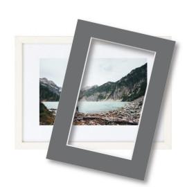 Fotolijst met passe partout 30x40cm hout wit