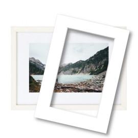 Fotolijst met passe partout 70x100cm hout wit