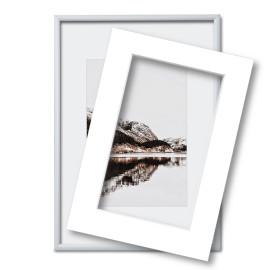 Fotolijst met passe partout 40x60cm zilver
