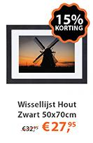Wissellijst Hout Zwart 50x70cm